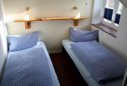 Schlafzimmer im Vordeck