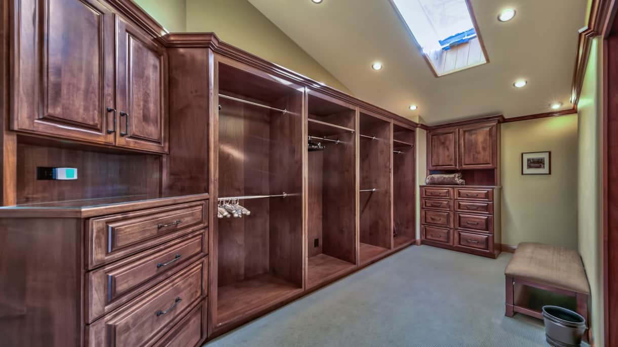 Walk in closet off of the main master