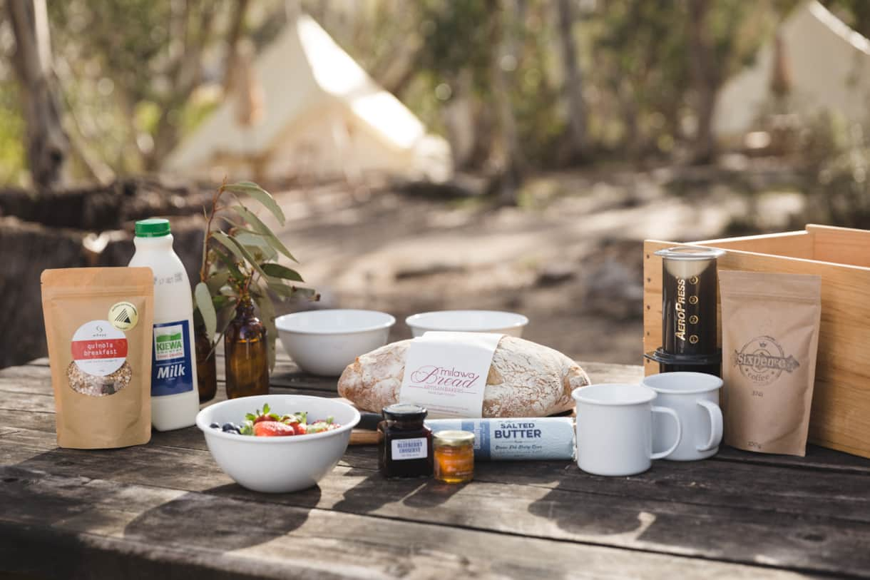 Alpine Breakfast box - continental - photo by Bri Hammond