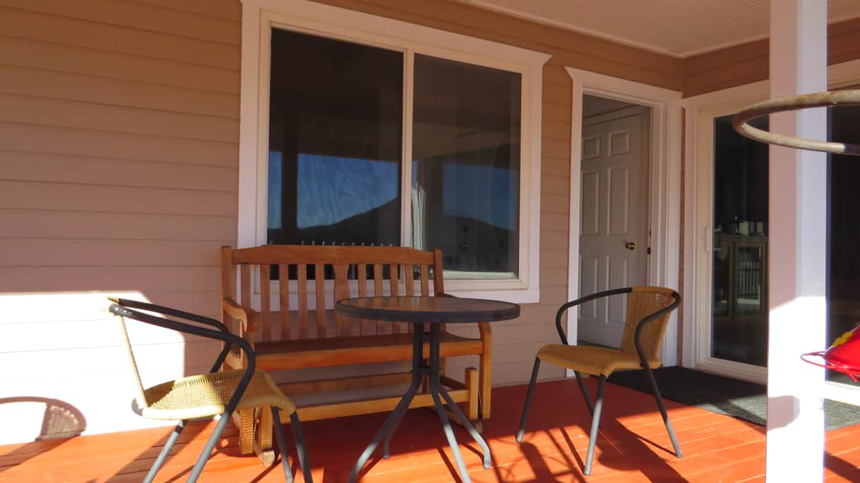 Sitting Area on Lodge Deck