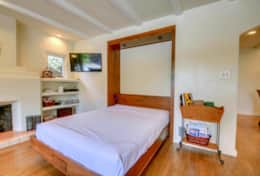 The comfortable Murphy Bed Creates Room for Two Additional Guests