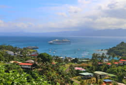 Looking West Over Savusavu town from Bula Vista