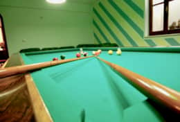 Playroom with pool table