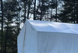 Asheville Glamping Tent cabin exterior