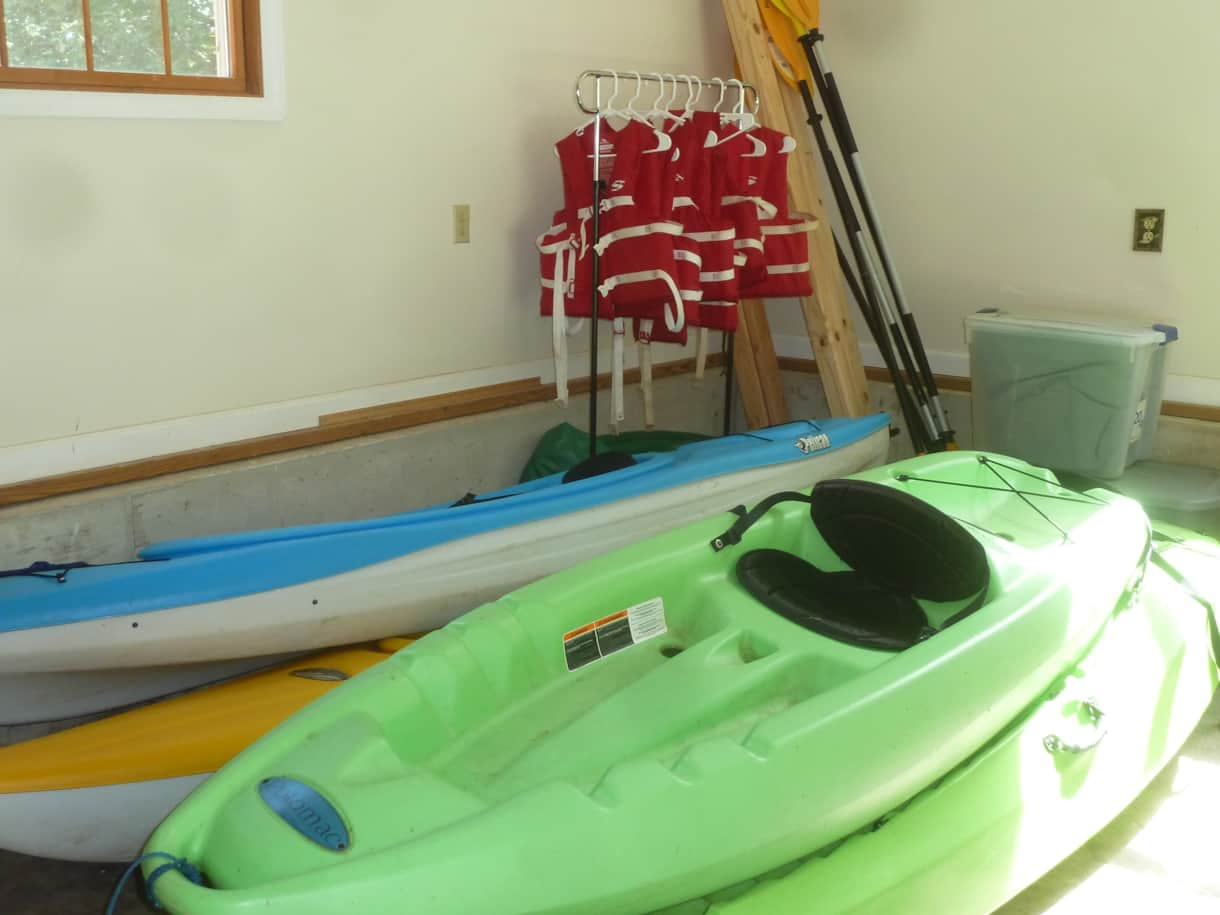 4 kayaks, life vests, paddles included with rental agreement