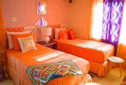 Our bold and colorful room, Moroccan Room