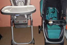 High Chair and Stroller