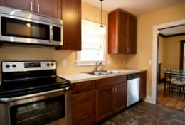 Freshly remodeled kitchen stocked with cookware, the very important coffee maker & enough plates and