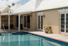 Pool area at Main house