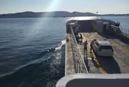 ferryboat trip to Antiparos