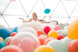Styled shoot fills the dome with balloons