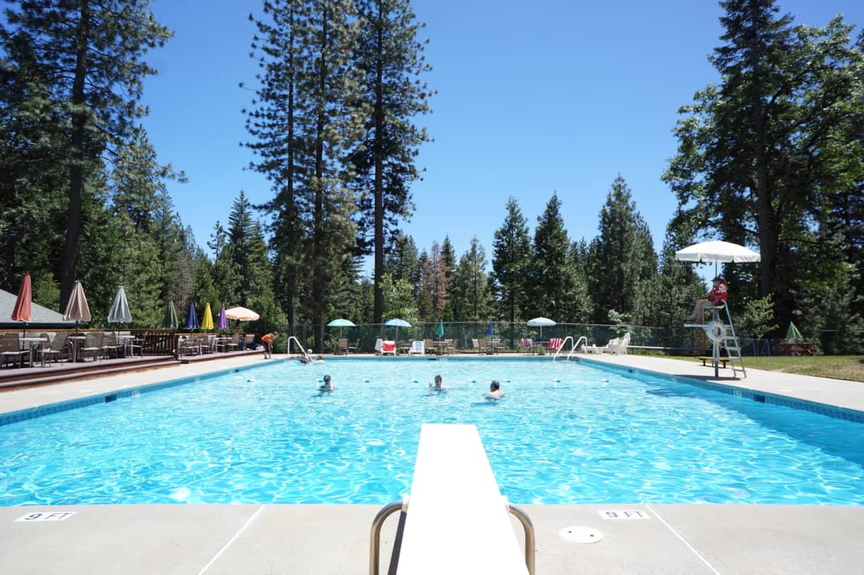 free access to the pool at Big Trees Village Recreation Center