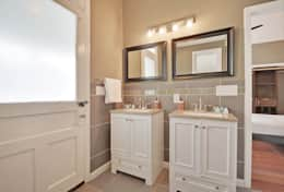 Both bathrooms feature twin 'his and her' sinks and a spacious walk-in shower