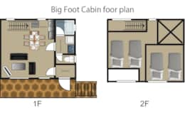 Big foot cabin layout