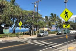 Monitored cross walk for safe access to beach