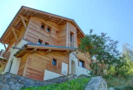 The apartment occupies ground floor of the chalet Kouffa,