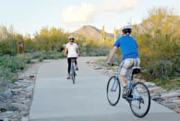 Outdoor biking and Hiking trails in every direction!