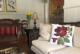 Artfully blended furnishings and decor honor the past while making it bright and modern