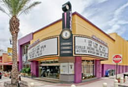 The old fashion movie theater at Clematis is only 5 minutes from the home