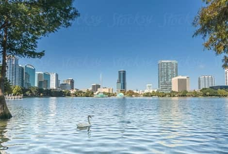 View of the Bustling City of Orlando