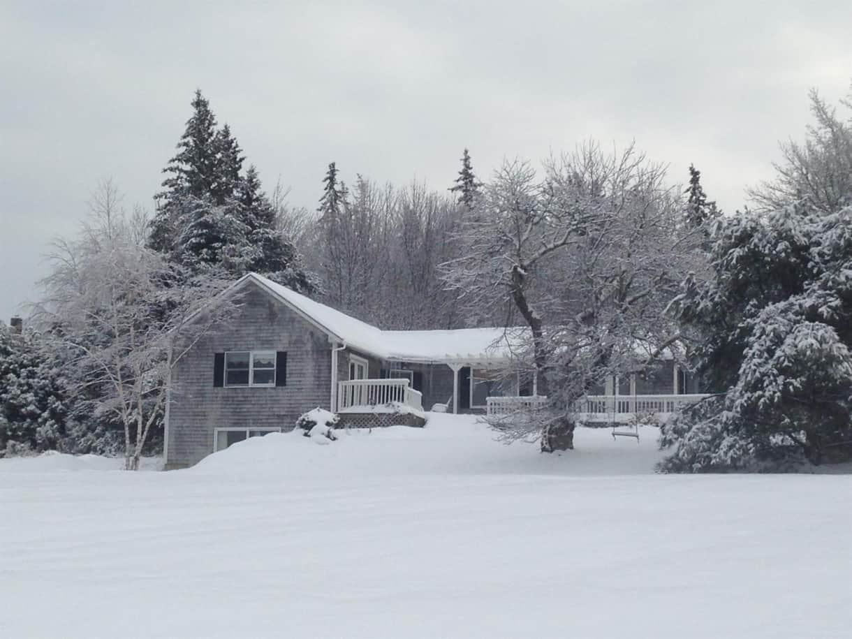 Fox Hill Cottage In The Winter