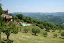 Private villa with incredible views over the mountains between Montone and Pietralunga