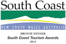 South Coast Tourism Bronze Award Winner