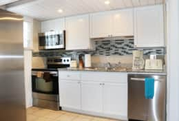 Unit 1: All new stainless steel appliances in the kitchen