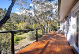 Sunny Deck with Bush Views