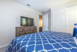 Fourth Bedroom with large flat screen TV