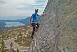 Great free rock climbing  on the Summit above Donner Lake