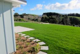Open rural setting with views to Kapiti Island.