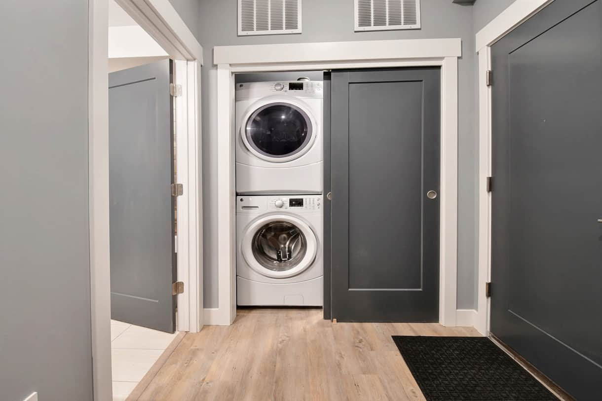 Closet with Full Size Laundry Machines