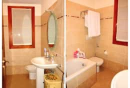 Close to the bedroom in the second floor you can use the small bathroom with sink, toilet an-COLLAGE