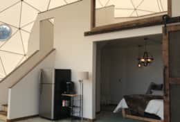 Asheville Glamping- Loft view in Dome 3 Mega Dome